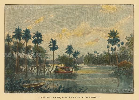 Las Palmas Lagunes, Paraguay: Near the mouth of the Pilcomayo River.
