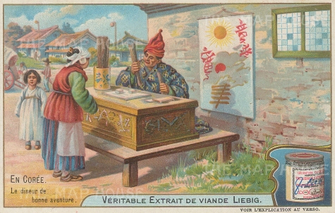 Fortune teller with astrology charts.