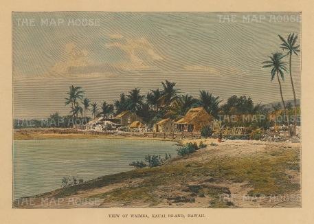 Kauai: View on the coast of Waimea.