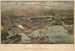 Chicago: Bird's eye view of the 1892 World's Fair.