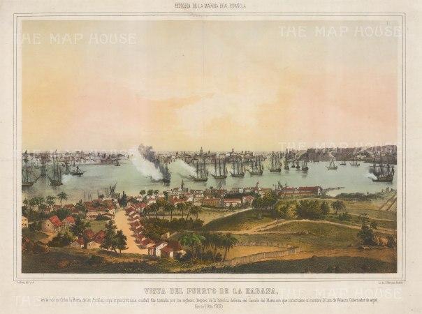 Havana, Cuba: Battle of Havana 1762. The British under the Earl of Albermarle capturing the 'Queen of the Antilles'. Seven Years' War.