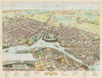Ottowa: Spectacular bird's eye view from Rideau River to Duke Street and from Cathcart Square to Queen Street. With key.