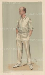 "Vanity Fair: Mr Pelham F Warner. 1903. An original antique chromolithograph. 8"" x 14"". [SPORTSp1366]"