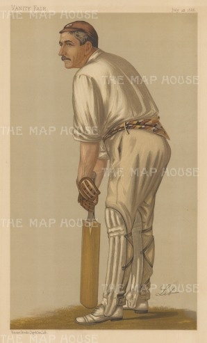 "Vanity Fair: Walker Williams Read. 1888. An original antique chromolithograph. 8"" x 14"". [SPORTSp1631]"
