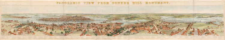 Boston: Panorama from Noddle's Island East Boston to Chelsea taken from Bunker Hill Monument. With Key.