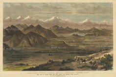 Kabul: View from the hill above the British Camp. With key to positions. Second Anglo-Afghan War.