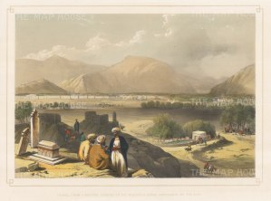Kabul: View of the city from the cemetery at Kaga Suffa.