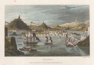 "Kelly: Algiers, Algeria. c1840. A hand coloured original antique steel engraving. 8"" x 6"". [AFRp1274]"