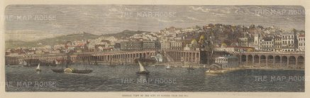 Algiers, Algeria. Panoramic view from the Mediterranean