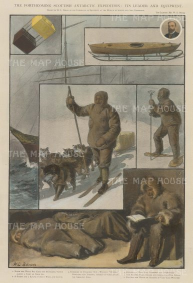 Scottish National Antarctic Expedition: Its leader William Speirs Bruce and the equipment.