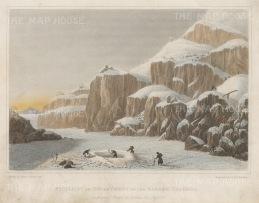 Dog Rib Rock: Preparing an Encampment. Franklin's Coppermine Expedition 1819-22.