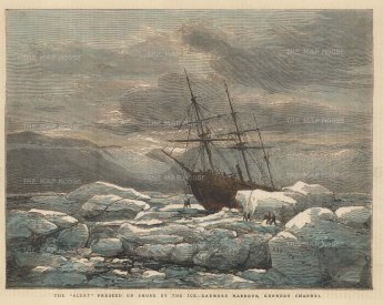Radmore Harbour, Kennedy Channel: The Alert stranded in the Ice. Expedition of HMS Alert 1875/77.