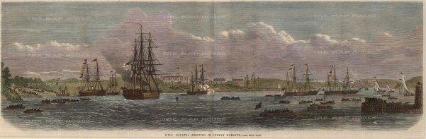 HMS Galatea Arriving in Sydney Harbour.