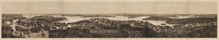 Anonymous: Port Jackson, Sydney. c1910. An original antique photo-lithograph. [AUSp688]