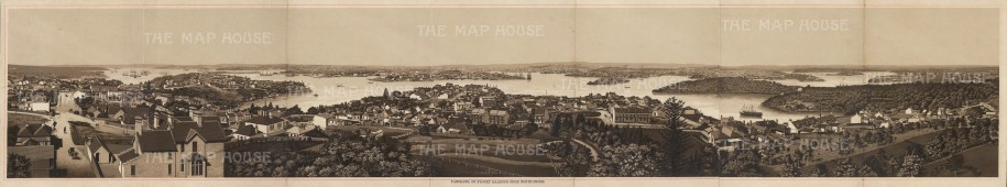 Anonymous: Port Jackson, Sydney. c1910. An original antique photo-lithograph. [AUSp688]