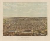 "Collins: Melbourne. c1880. An original antique chromolithograph. 10"" x 8"". [AUSp721]"