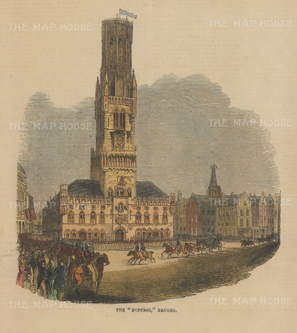 View of the Belfry and Grote Markt.