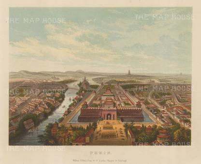 Peking (Beijing): Panorama overlooking the Zhengyang Gate.