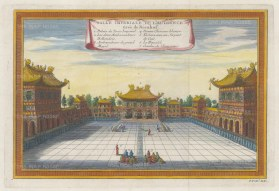 Peking (Beijing): Imperial Hall of Audience: With key in French.