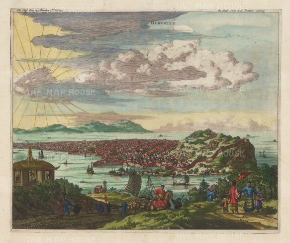Hangzhou, Zhejiang Province: Panoramic view of the former capital..