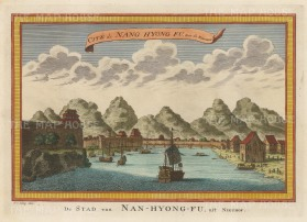 Nang Hyong Fu: View of the fort and harbour.