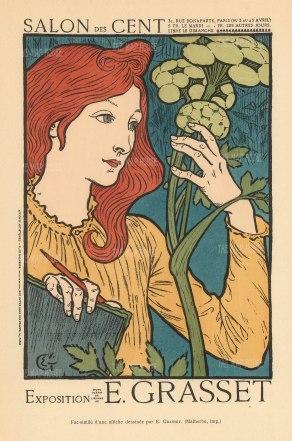 Salon des Cent: Exposition of Eugene Grasset, one of the great innovators of Art Nouveau design.