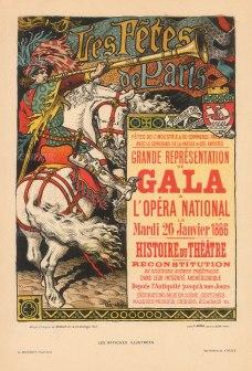 Les Fetes de Paris: l'Opera International Gala of the History of Theatre 1886 by Eugene Grasset.