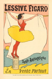 Seule Antiseptique en Vente Parout: Detergent poster by the impressionist painter Leo Gausson.