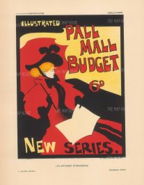 Illustrated Pall Mall Budget: The iconic cover by Maurice Greiffenhagen for the weekly gazette.