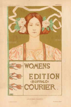 Buffalo Courier: Cover for the Women's edition by the American illustrator A.R. Gifford.