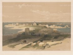 Tyre: View from the Isthmus of the ancient Phonecian city.