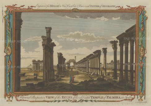 Palmyra: Ruins of the Temple of Bel and camp of Diocletian.