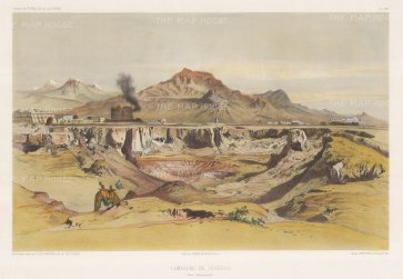 Tehran, Iran: View of the environs and the Alborz mountains. After Jules Laurens.