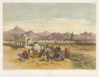 Tehran, Iran: View on the road to Casbinn (Qazvin). After Jules Laurens.