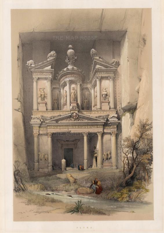 Petra: Al Khazneh, the treasury. Originally built in the 1st century as a mausoleum by King Artetas IV.