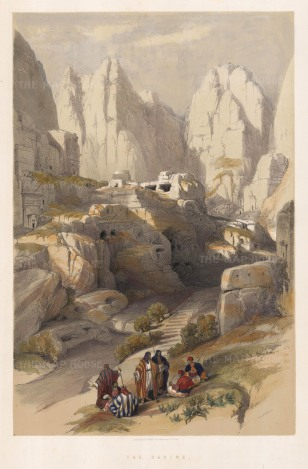 Petra: The Ravine. The ancient capital of the Nabatean Kingdom.