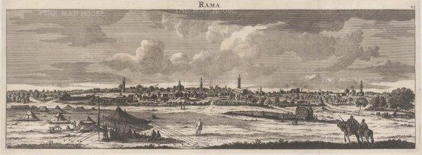 Rama (Ramallah): Panorama of the city near to Jerusalem