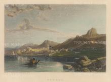 "Finden: Larnaca, Cyprus. c1840. A hand coloured original antique steel engraving. 6"" x 4"". [MEDp311]"