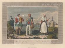 "Jackson: Menorca & Majorca. c1840. A hand coloured original antique steel engraving. 6"" x 4"". [MEDp320]"
