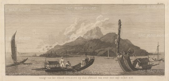 Coastal view after William Hodges, artist on the Second Voyage. Dutch edition.