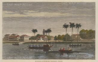 Paramaribo, Suriname: Government House Square.