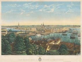 """Mester: Stockholm. c1860. An original colour antique lithograph. 25"""" x 19"""". [SCANp234]"""