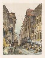 "Prout: Geneva. c1850. A hand coloured original antique lithograph. 12"" x 16"". [SWIp587]"