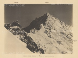 "Vo Sella: Pennine Alps. 1890. An original antique photograph. 11"" x 9"". [SWIp705]"