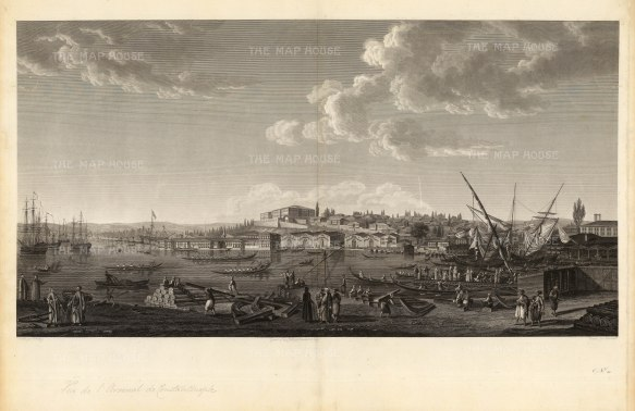 Tophana: Panorama of the artillery arsenal and canon foundry destroyed by fire in 1823