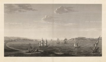 "Melling: Dardanelles. 1819. An original antique copper engraving. 36"" x 20"". [TKYp1264]"