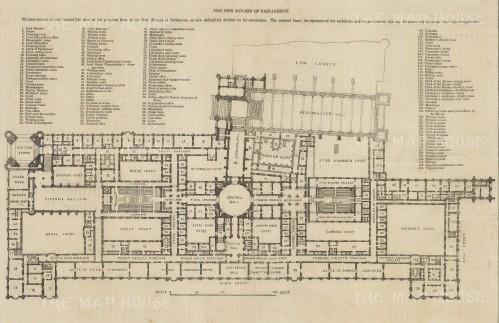 "Illustrated London News: Parlieament. 1843. An original antique wood engraving. 14"" x 9"". [LDNp10508]"