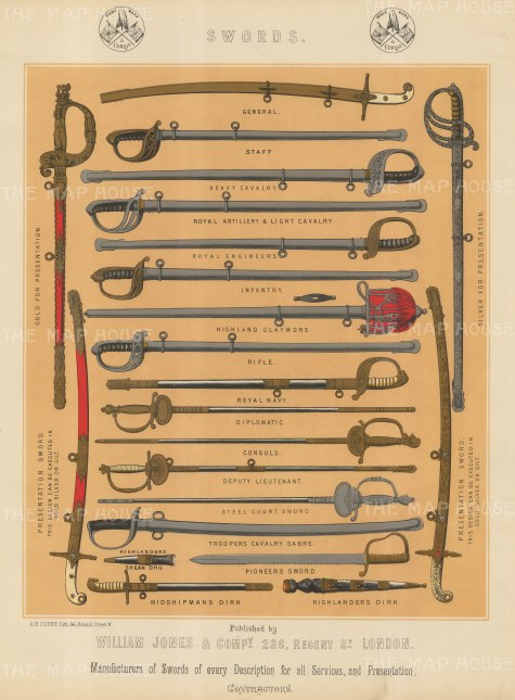 22 Military and Naval swords.