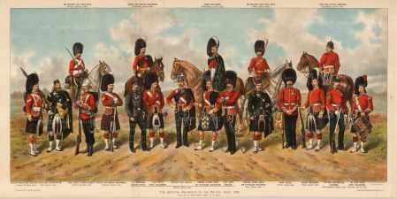 Scottish Regiments including the Scots Guards and Black Watch.