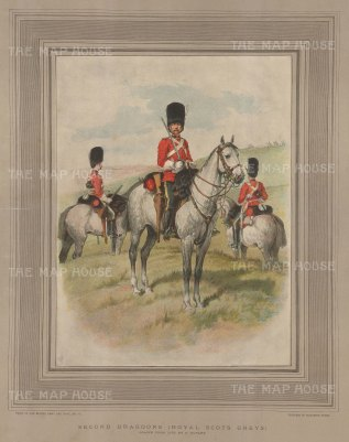 Royal Scots Greys: Second Dragoons in marching order.